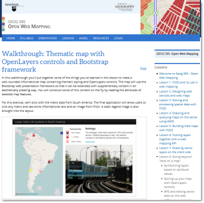 Open Web Mapping course page