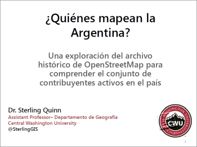 Who is mapping Argentina?